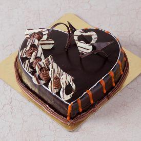 Truffle heart shape cake